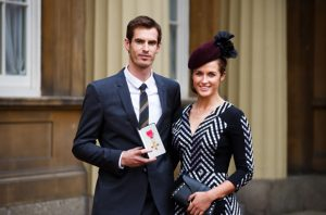 Andy Murray and Family after receiving Knighthood Photo Credit: PA